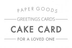 Cake love cards text header