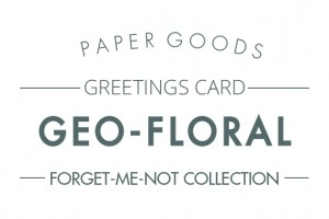 Geo-floral cards text header