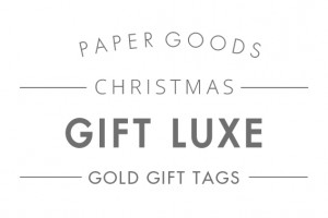 Gift luxe cards text header