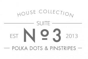 Polka Dots & Pinstripes text header