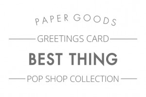 Pop shop - Best thing text header