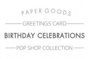 Pop shop - Birthday celebrations text header