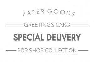 Pop shop - Special delivery text header