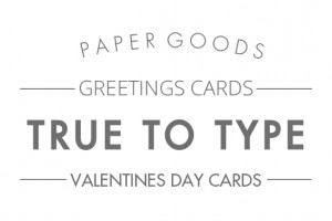 True to type cards valentines text header