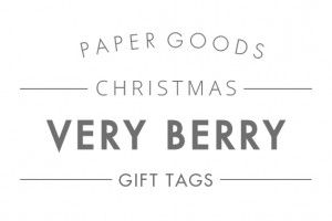 Very Berry Tags text header