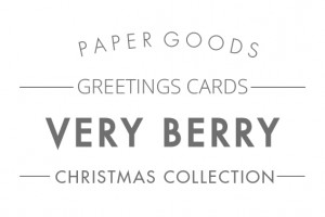Very Berry cards text header