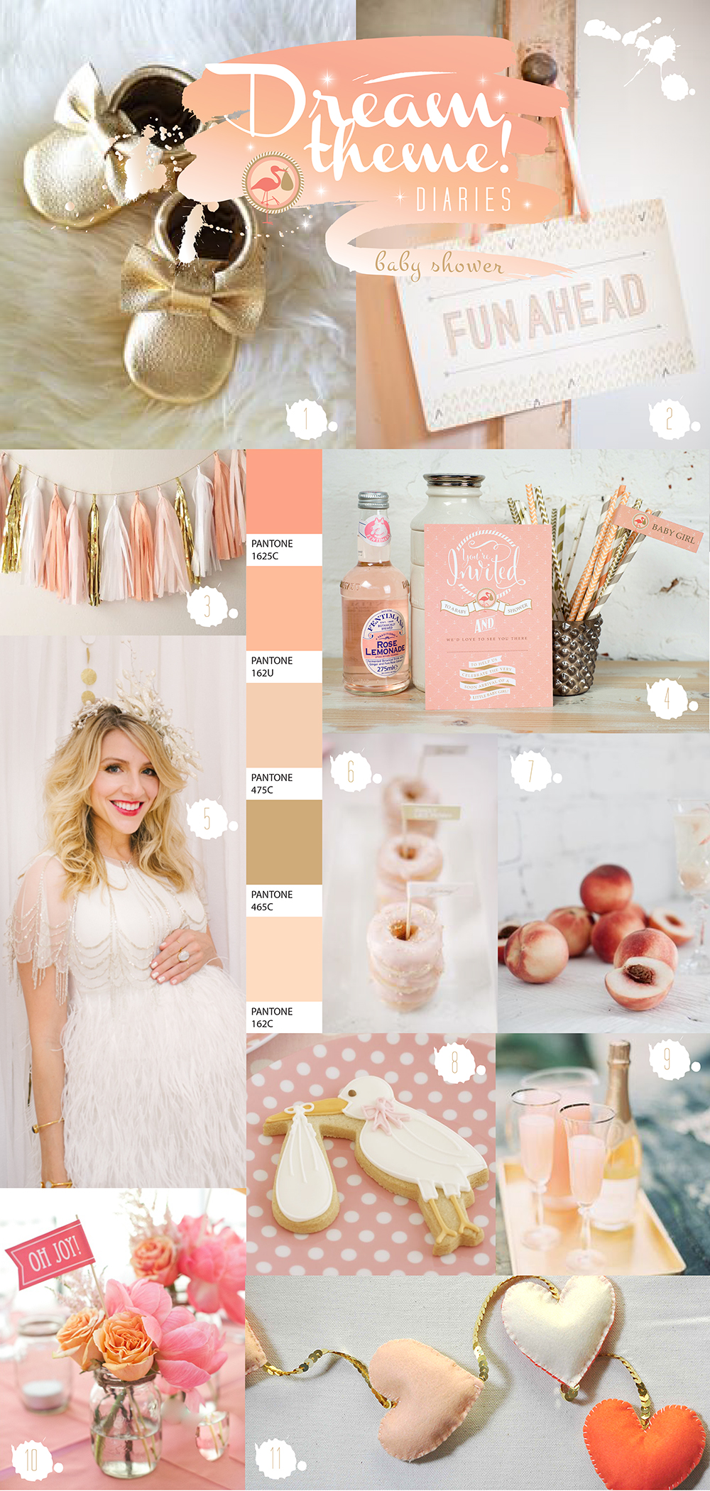 Perfectly Peach Baby Shower Ideas